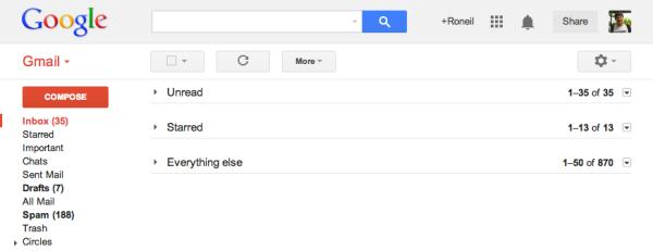 Simple Gmail UI